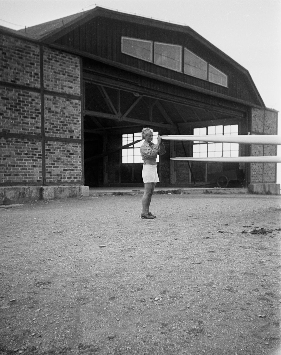 Helena at the gliding camp, June 1939